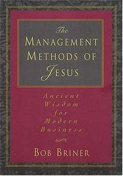 Cover of: The Management Methods of Jesus