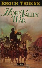 Cover of: Hope valley war