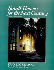 Cover of: Small houses for the next century