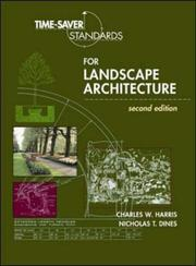 Cover of: Time-saver standards for landscape architecture