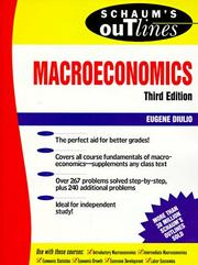 Cover of: Schaum's outline of theory and problems of macroeconomics | Eugene A. Diulio