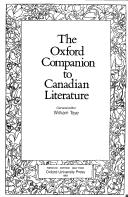Cover of: The Oxford companion to Canadian literature |