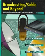 Cover of: Broadcasting/cable and beyond