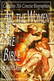 Cover of: All the Women of the Bible | Edith Deen