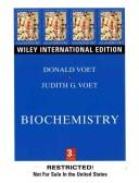 Cover of: Biochemistry | Donald Voet