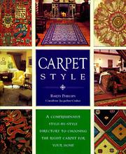 Cover of: Carpet Style | Barty Phillips