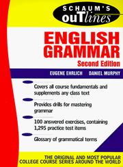 Cover of: Schaum's outline of English grammar