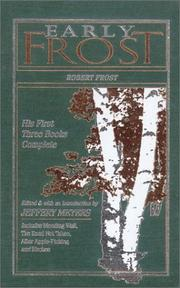 Cover of: Early Frost: The First Three Books (American Poetry)