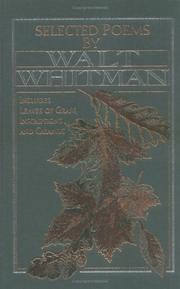 Cover of: Selected Poems by Walt Whitman (American Poetry) | Walt Whitman