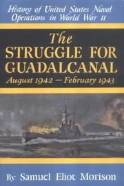 Cover of: The Struggle for Guadalcanal