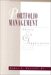 Cover of: Portfolio Management