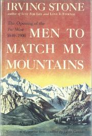 Cover of: Men to Match My Mountains