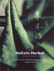 Cover of: The Holistic Herbal Directory