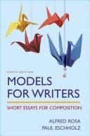 Cover of: Models for writers |