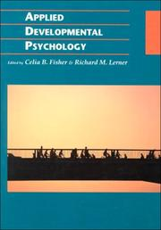 Cover of: Applied developmental psychology