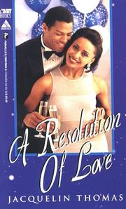 Cover of: A resolution of love
