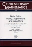 Cover of: Finite fields | International Conference on Finite Fields : Theory, Applications, and Algorithms (2nd 1993 Las Vegas, Nev.)
