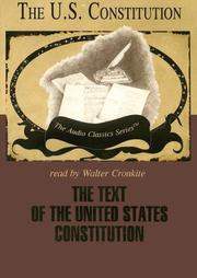 Cover of: The Text of the United States Constitution