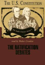 Cover of: The Ratification Debates