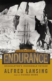 Cover of: Endurance; Shackleton's incredible voyage