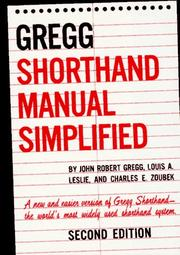 Cover of: The GREGG Shorthand Manual Simplified