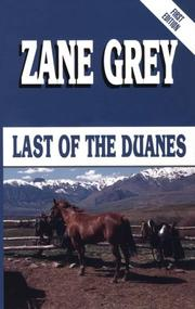Cover of: Last of the Duanes: a Western story