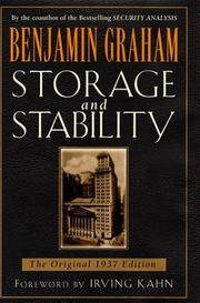 Cover of: Storage and Stability