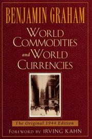 Cover of: World commodities and world currency