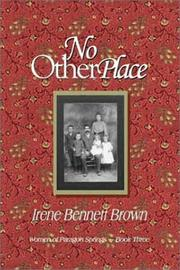 Cover of: No Other Place