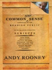 Cover of: Common Nonsense | Andrew A. Rooney