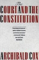 Cover of: The court and the constitution