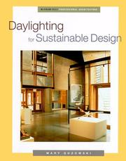 Cover of: Daylighting for sustainable design