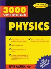 Cover of: Schaum's 3000 solved problems in physics by