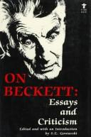 Cover of: On Beckett