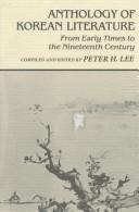 Cover of: Anthology of Korean literature | compiled and edited by Peter H. Lee.