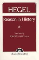 Cover of: Reason in history: a general introduction to the philosophy of history