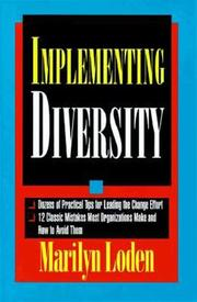 Cover of: Implementing diversity