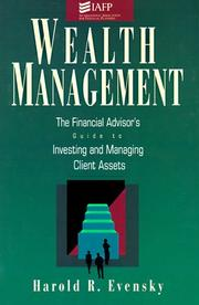 Cover of: Wealth management