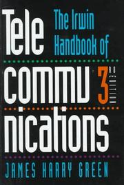 Cover of: The Irwin handbook of telecommunications