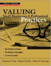 Cover of: Valuing small businesses and professional practices