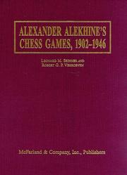 Cover of: Alexander Alekhine's chess games, 1902-1946