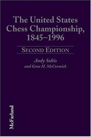 Cover of: The United States chess championship, 1845-1996