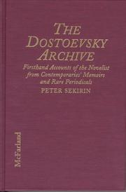 Cover of: The Dostoevsky archive |