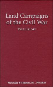 Cover of: Land campaigns of the Civil War