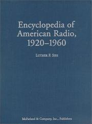 Cover of: Encyclopedia of American radio, 1920-1960