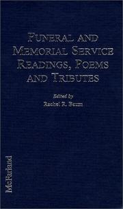 Cover of: Funeral and memorial service readings, poems, and tributes |