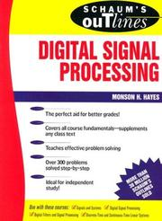 Cover of: Schaum's outline of theory and problems of digital signal processing