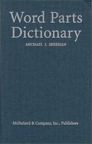 Cover of: reverse Word parts dictionary: standard and reverse listings of prefixes, suffixes, roots, and combining forms