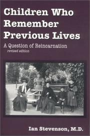 Cover of: Children who remember previous lives