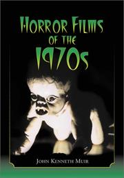 Cover of: Horror Films of the 1970s